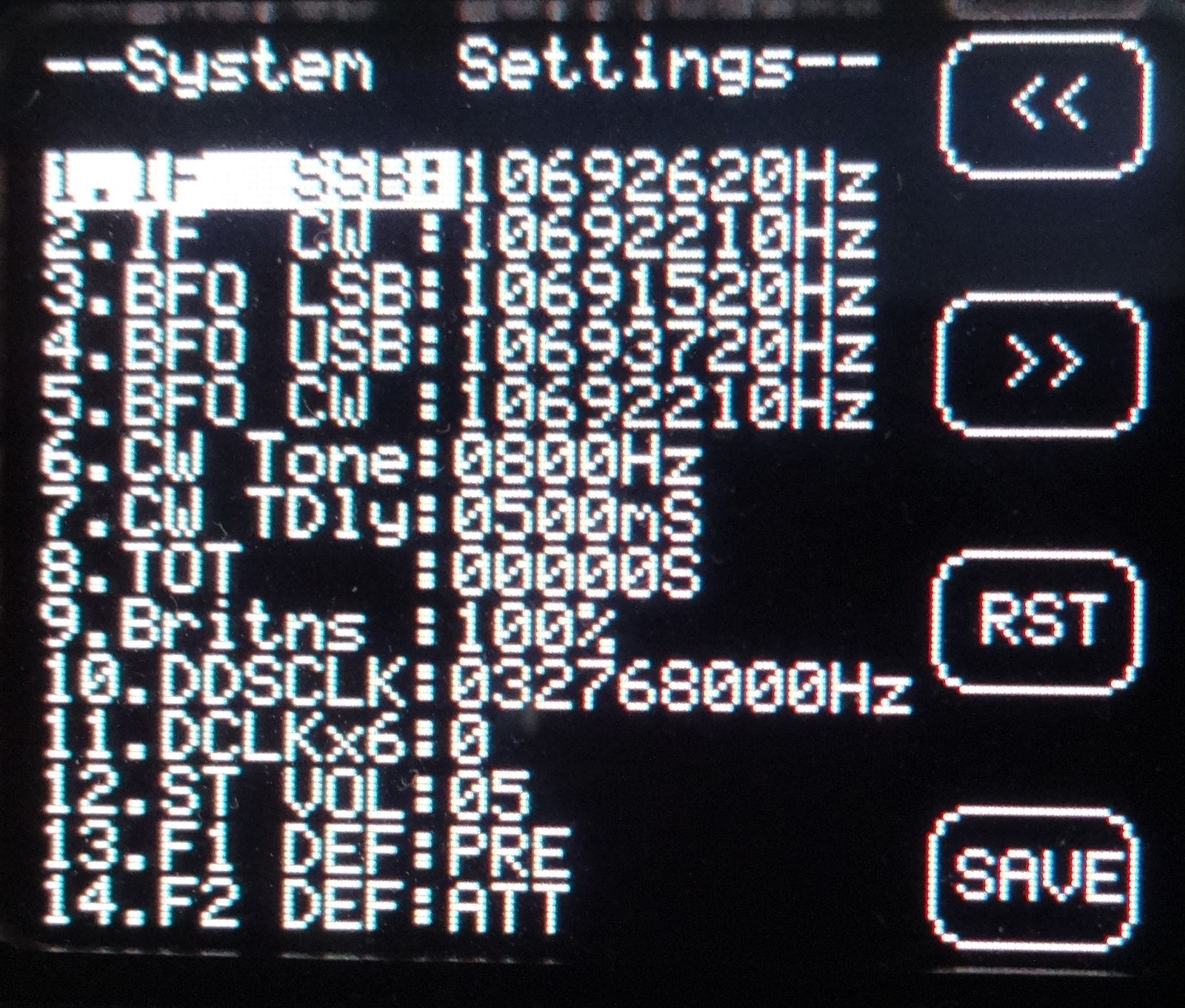 X-108 Info - X108G Radio Calibration   Xiegu X-108 - QRP Transceiver